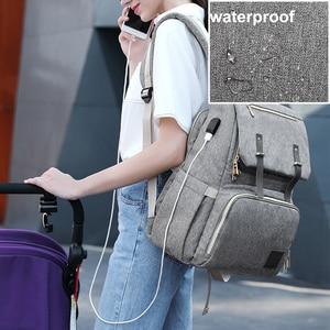 Image 4 - Diaper Bag Backpack for Mom 2020 USB Maternity Baby Care Nappy Nursing Bags Fashion Travel Diaper Backpack for Stroller Kit