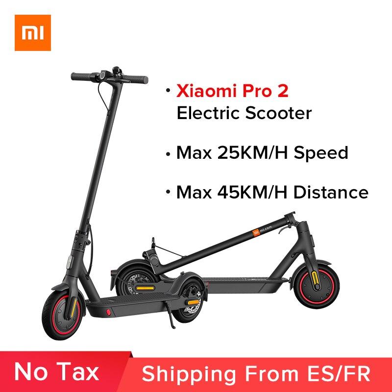 Электрический скутер Mi Pro 2 оригинальный Xiaomi Mijia складной легкий скейтборд для взрослых Pro 25 км/ч Mi E-Scooter Скейтборд Pro 2