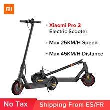 Mi scooter elétrico pro 2 original xiaomi mijia dobrável skate leve adulto pro 25km/h mi e-scooter skate pro 2