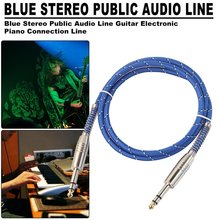6.35mm Jcak to Male To Audio Cable For Electric Guitar Mixer Mono/Stereo Via 5M/10M/15M/20M