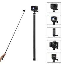 TELESIN 2,7 M Carbon Faser Ultra Lange Selfie Stick für GoPro Hero 9 8 7 6 5 Schwarz Insta360 EIN X DJI OSMO Action Kamera Einbeinstativ