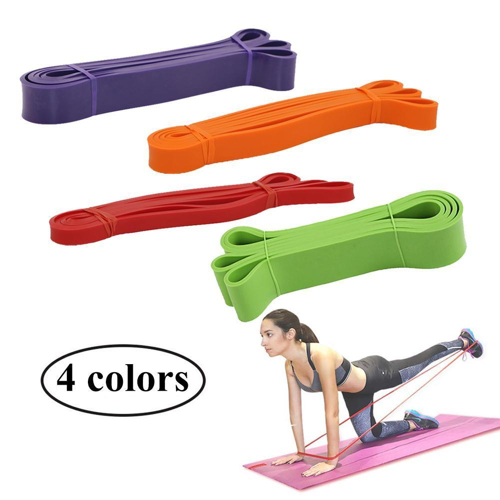 Latex Resistance Band Elastic Band Wide Rubber Band Fitness And Women P0A2 Men Training Rally Strength L8T1