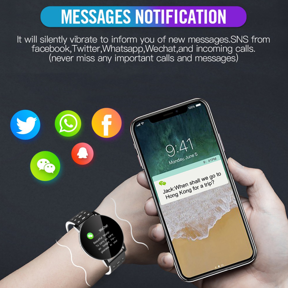 2020 New Bluetooth Smart Watch Men Blood Pressure Smartwatch Women Watch Sport Tracker Band For Android IOS WhatsApp