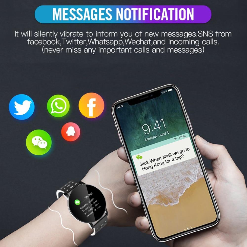 cheapest 2020 New Bluetooth Smart Watch Men Blood Pressure Smartwatch Women Watch Sport Tracker Band For Android IOS WhatsApp