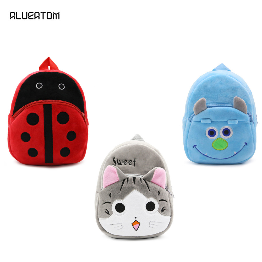2020 Cat Ladybug Children Character Girls School Backpack Rucksack School Bag Zipper Kid Book Bag New