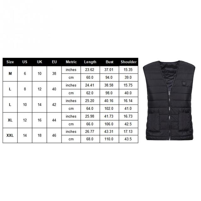 Men Women Outdoor USB Infrared Heating Vest Flexible Electric Thermal Winter Warm Jacket Clothing For Sports Hiking Riding 5