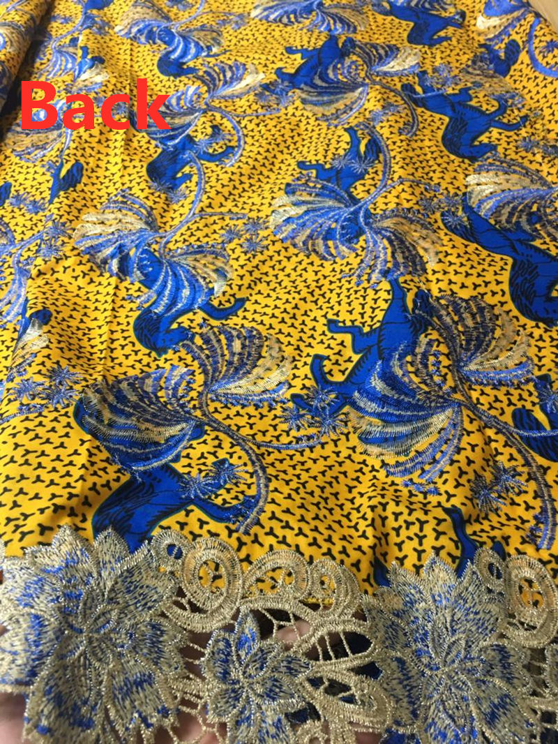 Alisa ล่าสุดไนจีเรีย guipure ลูกไม้ผ้า 2019 คุณภาพสูงแอฟริกันผ้า Gold สีผ้าบาติกผ้าลูกไม้ 6 หลา/pcs สำหรับจักรเย็บผ้า-ใน ลูกไม้ จาก บ้านและสวน บน   2