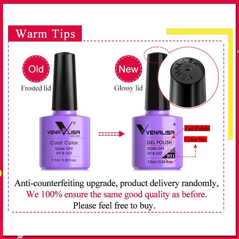 Venalisa 7.5ml Nail Gel Polish 60 Colors Free Shipping Top Sell For Nail Art Manicure Top Coat Soak Off Enamel UV Gel Varnish 6