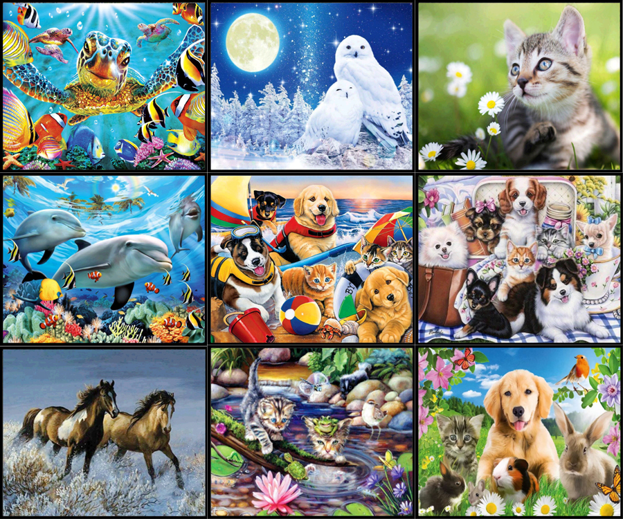 5d Diy Diamond Paintings, Diamond Embroidery Mosaics, Rhinestone Pictures, Resin Animals, Home Decoration Crafts