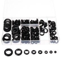 200 шт./кор. резиновая прокладка, 8 размеров, прокладка для проводного Кабеля, черный ассортимент комплекта, Комплект прокладок для электричес...