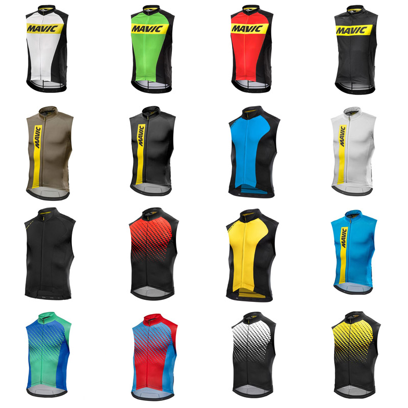 Riding T-shirt 2020 MAVIC Racing Bike Sleeveless T-shirt Mountain Bike Cycling Jersey Summer Cycling Jersey Road Bike Clothes image
