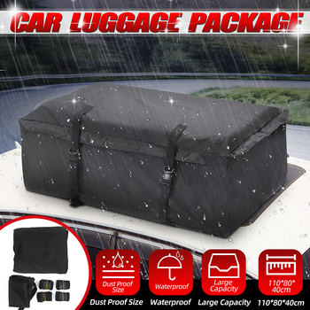 110x80x40cm Car Roof Top Bag Roof Top Bag Rack Cargo Carrier Luggage Storage Travel Waterproof SUV Van for Cars image