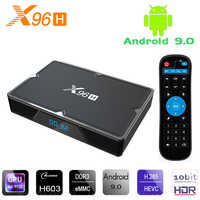 X96H Smart Android 9.0 TV Box 4GB RAM 32GB 64GB ROM Allwinner H603 Media Player 6K HD 2G 16G Set Top Box HDMI IN&OUT vs X96 MAX