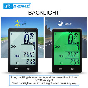 Image 4 - INBIKE 2.8 inch Bicycle Computer Wireless Bike Computer Light Headlight Set Rainproof Speedometer Odometer Cycling Stopwatch