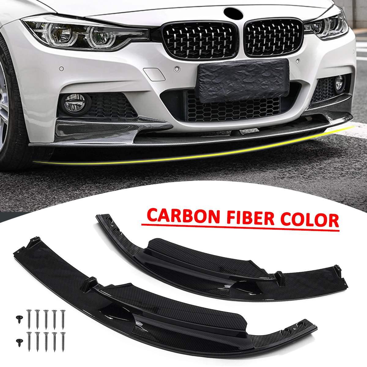 3 цвета передний бампер крышка Губы передний бампер поверхность только для BMW F30 3 серии M Стиль 2012 2018 спортивная версия - 5