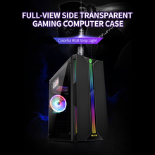 Desktop Computer Case ATX Full-view Side Transparent RGB PC Case Support ATX/Micro ATX/Mini ITX Cooling Fan/330mm Graphics Card