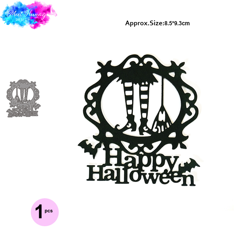Witch Boot Broom <font><b>Dies</b></font> Scrapbooking Metal Cutting <font><b>Dies</b></font> New Happy <font><b>Halloween</b></font> Craft <font><b>die</b></font> cut For Paper Card making <font><b>stamps</b></font> <font><b>and</b></font> <font><b>dies</b></font> image