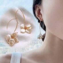 Ins Hot Sweet Ivory Shell Pendant Earring Girls Dangle Earrings OL Women Lady Ear Hook Jewelry fashion sweet shell round dangle earrings