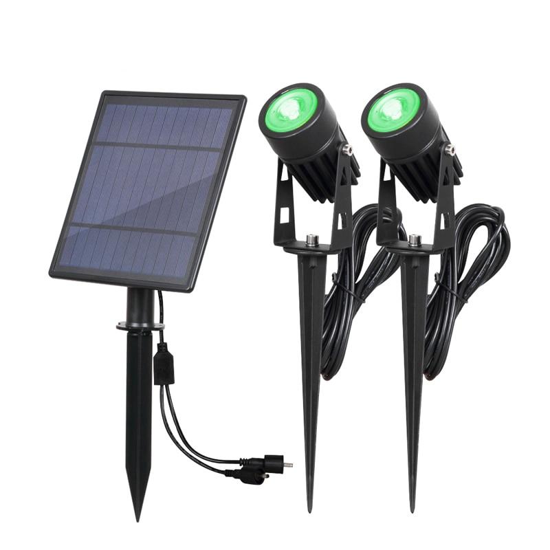 solar powered spotlight
