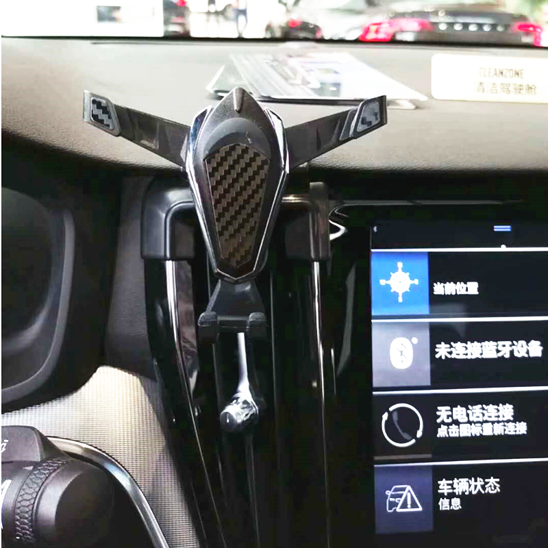 Gravity Car Air Vent Outlet Dashboard Mobile Cell Phone Holder Reaction Clip Mount Cradle GPS Aromatherapy For Volvo S60 2020
