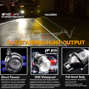 Image 4 - Sinolyn Fog Lights For Toyota Camry/Corolla/RAV4/Yaris/Auris/Highlander Bi xenon Projector Lens H11 D2H HID Bulb Accessories DIY
