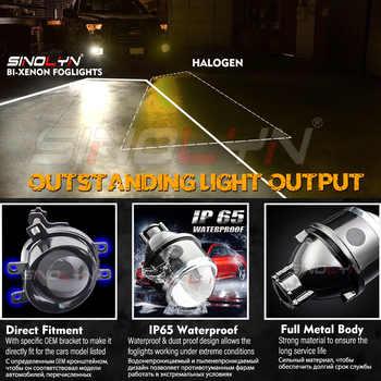 Sinolyn Fog Lights For Toyota Camry/Corolla/RAV4/Yaris/Auris/Highlander Bi-xenon Projector Lens H11 D2H HID Bulb Accessories DIY