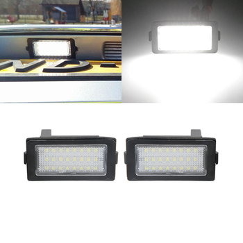 For BMW E38 7-Series 740i 740Li 750i 750Li 1995-2001 White Canbus Error Free SMD Led License Plate Lights Auto Tail Lamps image