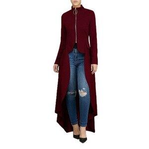 Image 3 - Müslüman Bluz Kadın Fantezi Fermuar Abaya Elbise düzensiz swallow kuyrukları müslüman gömlek Başörtüsü elbise