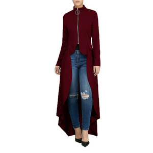 Image 3 - Muslim Blouse Women Fancy Zipper Abaya Dress with irregular swallow tails muslim shirt Hijab dress