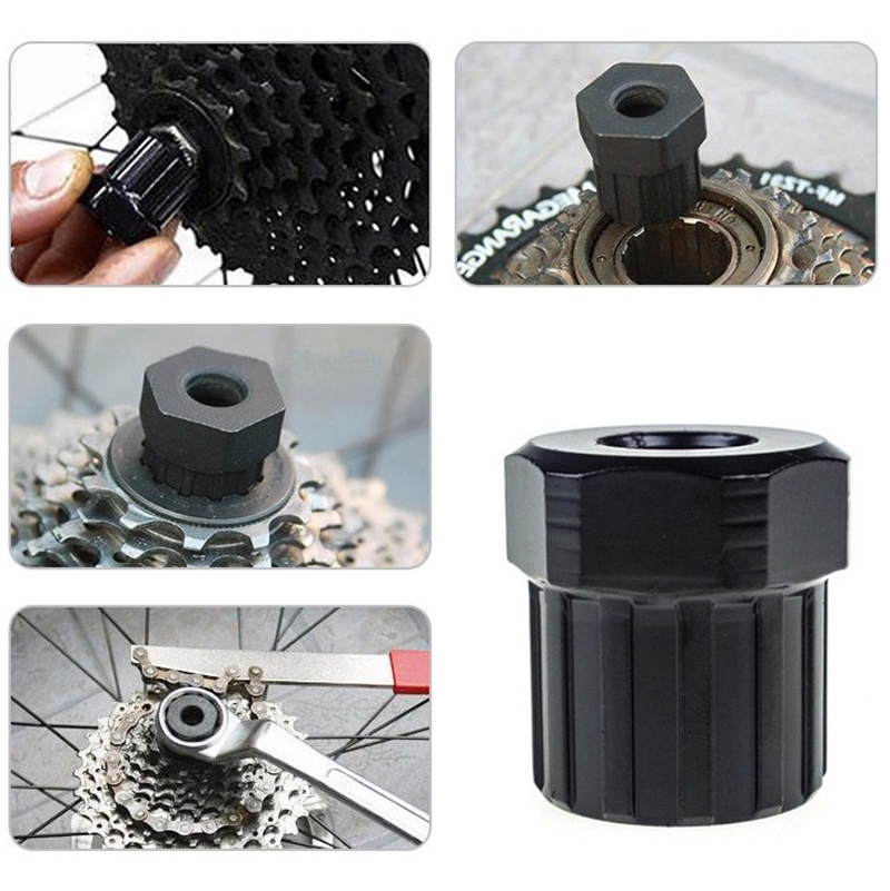 12 Teeth 6-pin Screw Carbon Steel Bicycle Freewheel Lockring Removal Repair Tool MTB Mountain Bike Install Remove Tool