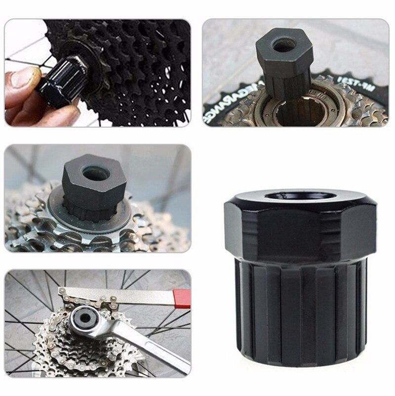 12 Teeth 6-pin Screw Carbon Steel Bicycle Freewheel Lockring Removal Repair Tool MTB Mountain Bike Cassette Install Remove Tool
