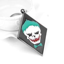 Suicide Squads Keychain Metal Baseball Bat Ball Negan Lucille Key Chain Keyring DC Comic Batman Joker Charm dropshipping