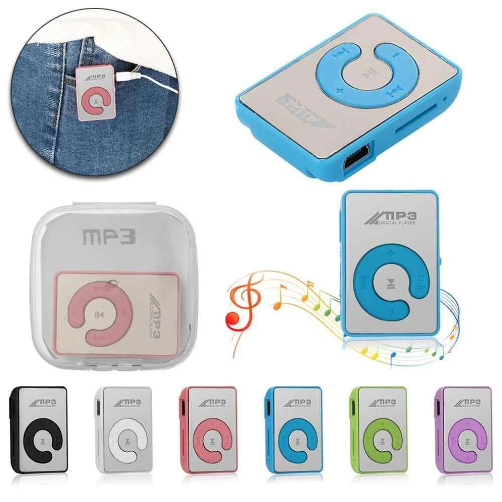 Portátil mini clipe usb mp3 player suporte de mídia música micro sd tf cartão moda alta fidelidade mp3 esportes ao ar livre