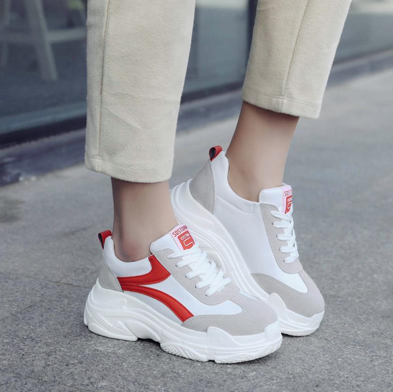 Women platform sneakers fashion colorful women outdoor basketball casual shoes 2019 super confident women sneakers basket femme in Women 39 s Vulcanize Shoes from Shoes