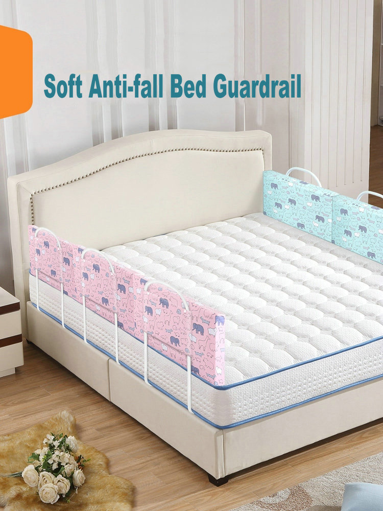 Baby Safety Gate Crib Rail Security Fencing 2M Large Bed General Soft Bed Guardrail Baby Bed Fence Home Kid Playpen