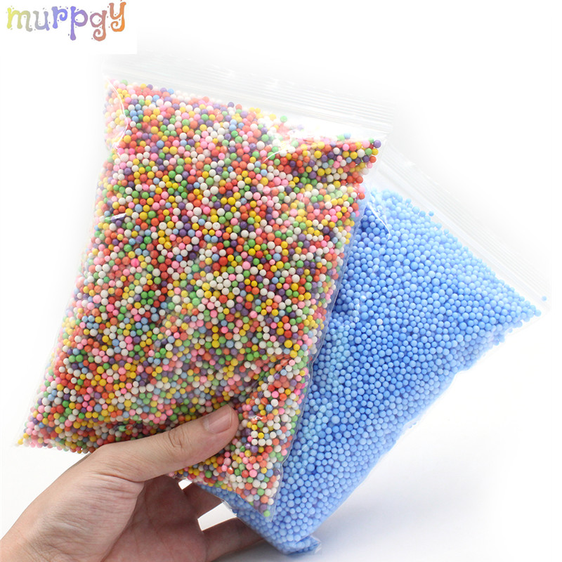 Colorful Foam Beads Slime Mud Light Balls Tiny Snow Addition Charms For Slime Supplies Particles Accessories Antistress Toys