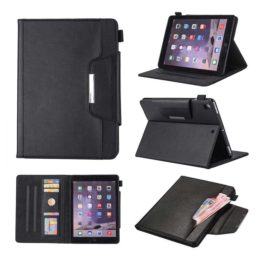Black Red Leather Case For Apple iPad 10 2 2019 7 7th Generation A2197 A2200 A2198 A2232 Cover