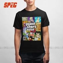 Grand Theft Dragon Ball Z Gta Funny Shirts Cartoon Gift Vriendje Jongen 100% Katoen Korte Mouw T shirt Mannen t shirt Plus Size