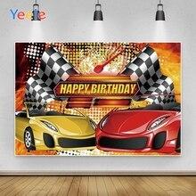 Yeele خلفية فينيل لديكور حفلات أعياد الميلاد ، لافتة سيارة سباق ، صور فوتوفون لتصوير الفيديو