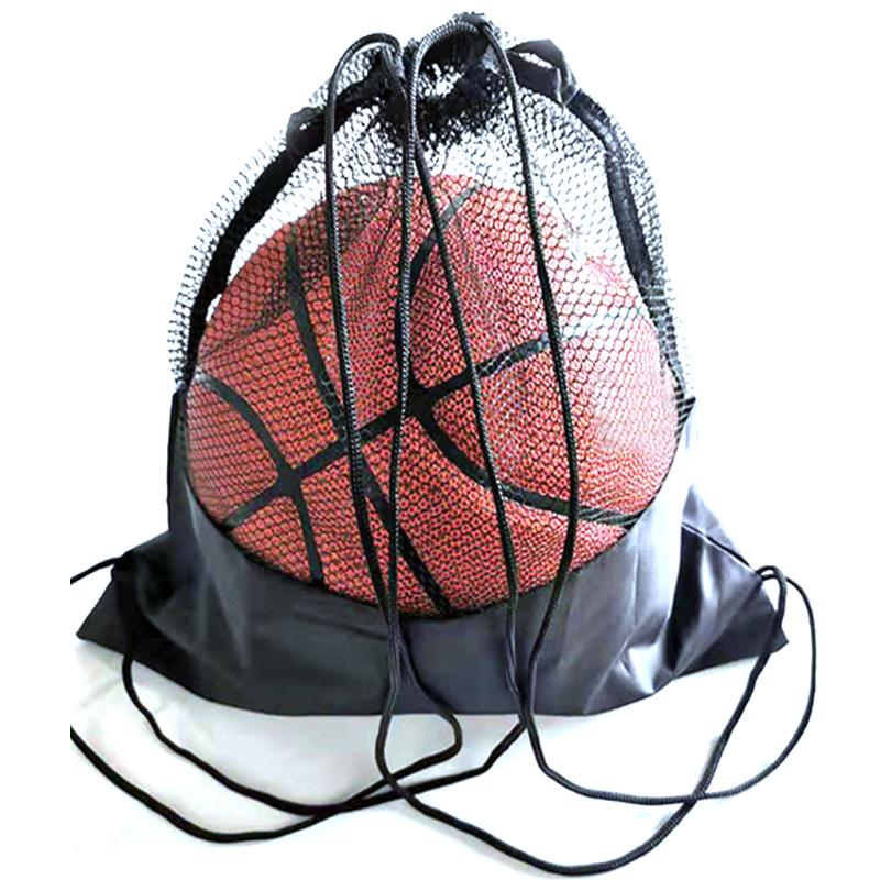 Portable Soccer Ball Storage Net Pouch Organizer Multi-function Black Basketball Mesh Bags Outdoor Sports Training Bags