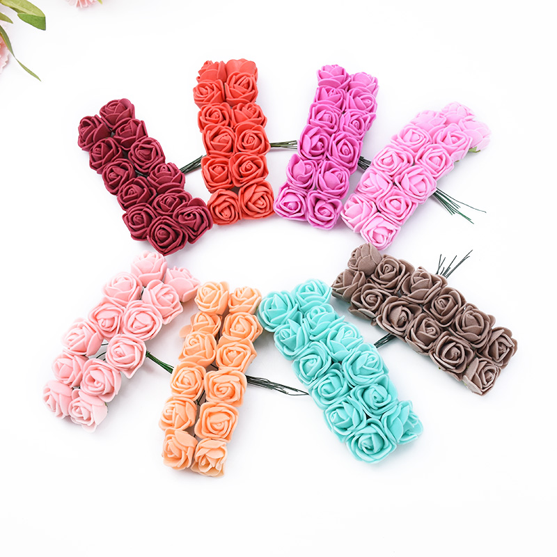144 Pieces Cheap Artificial Flowers For Home And Wedding Decorative 5