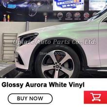 Höchste qualität Aurora Verpackung weiß film perle Aurora weiß wrap film auto wrap Aurora Weiß vinyl qualität Garantie 5m/10m/18m