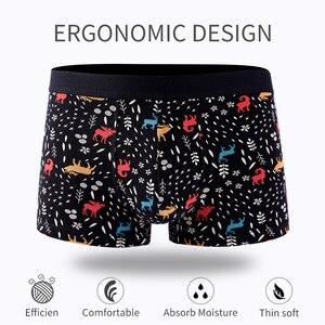 Image 2 - 4Pcs/lot Panties Mens Boxer Underwear Plus Size Organic Cotton Underpants Men Sexy Boxer Ventilate Short Homme L XL XXL XXXL 4XL