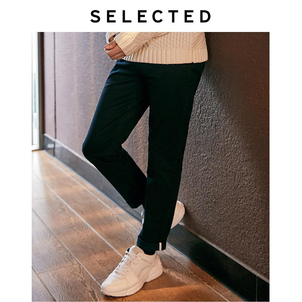 SELECTED Men's New Cotton With Micro-elastic Simple Solid Color Slim Casual Pants S | 419114557