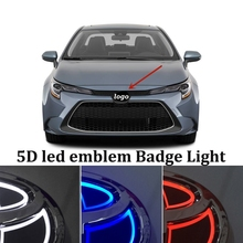 Auto Badge Embleem Licht Voor Toyota Corolla Rav4 Yaris Chr Hilux Camry Land Supra Wens Auris Avensis Corolla Auto Rear kofferbak Decor
