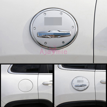 цена на Fuel Tank Cap Gas Box Cover Frame Panel 2014 2015 2016-2017 ABS Detector Chrome Car Styling For Jeep Cherokee Accessories