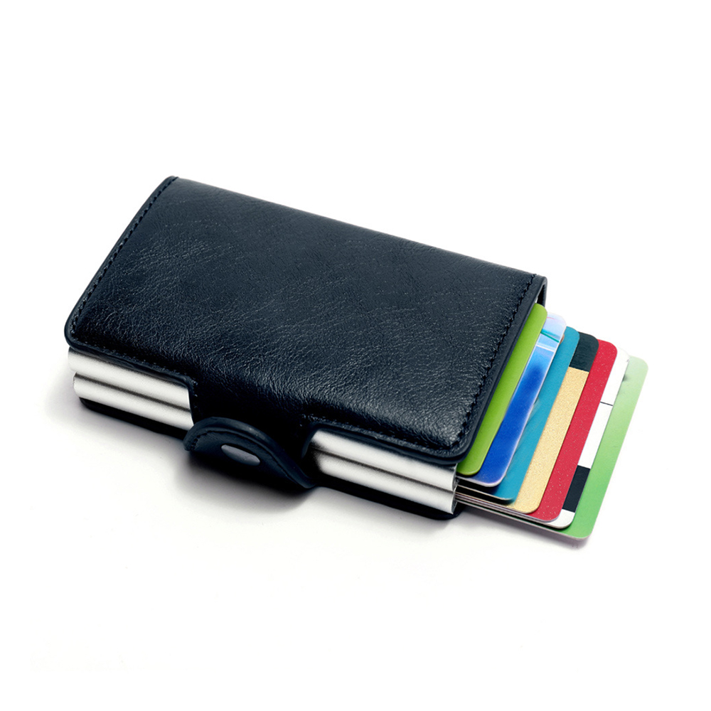 2019 New Wallet For Men Slim & Mini Aluminium Secrid 12-24Cards RFID Card Holder Multi-Function Aluminum Business PU Wallet