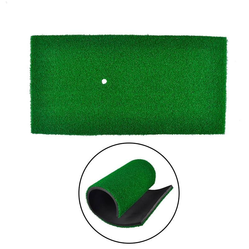 PGM Brand Indoor Backyard Golf Mat Training Hitting Pad Practice Rubber Tee Holder Grass Mat Grassroots Green 60cm X 30cm