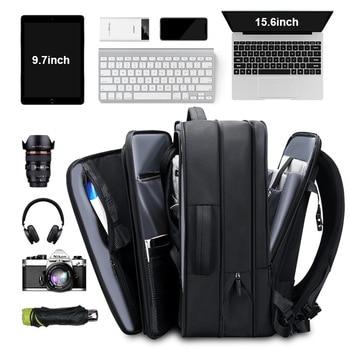 Business Backpack Laptop Man Waterproof Laptop Backpack 17 17.3 inch Men Big Capacity Outdoor Travel bag Backpack Male black