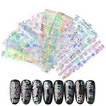Diy Shiny Nail Folies Papier Glitter Glas Snoep Laser Nail Art Folies Papier Sticker Decoraties Slime Afdichting Papier(China)